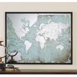 30400 Mirrored World Map by Uttermost