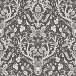 3118-12704 Birch and Sparrow Kiwassa Antler Damask by Chesapeake Wallpaper