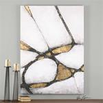 34352 Abstract in Gold and Black by Uttermost