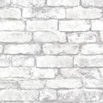 2922-21261 Trilogy Debs White Exposed Brick by A-Street Prints Wallpaper