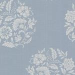 Decorline - Platinum Blue Flowers Wallpaper1