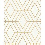 2834-42344 Advantage Metallic Adaline Off-white Geometric by Advantage Wallpaper