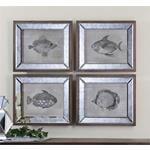 41700 Mirrored Fish S/4 by Uttermost