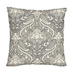 """So7616204 Hendrix Embroidery 18"""" Pillow Black By Schumacher Furniture and Accessories 1"""