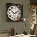 06083 Warehouse Clock w/ Grill by Uttermost