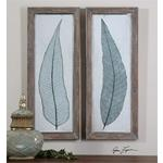 41514 Tall Leaves S/2 by Uttermost