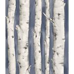 3118-12604 Birch and Sparrow Pioneer Birch Tree by Chesapeake Wallpaper