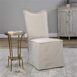 23309 Lenore Armless Chair Oatmeal 2 Peby Uttermost