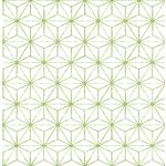 2764-24312 Orion Green Geometric Mistral by A-Street Prints