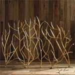 18796 Gold Branches Decorative Fireplace by Uttermost