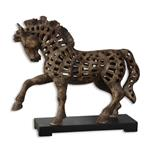 19217 Prancing Horse Sculpture by Uttermost-3