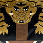 """So7723204 Jokhang Tiger Velvet 18"""" Pillow Brown and Black By Schumacher Furniture and Accessories 3"""