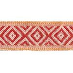 77462 Larson Tape Red and Orange by Schumacher Fabric