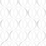 NU1704 Circulate Light Silver Graphics Peel and Stick Wallpaper
