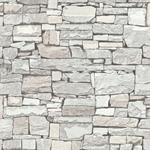 2774-859126 Stones and Woods Wrangell Cream Stacked Slate by Advantage Wallpaper