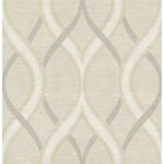 2625-21849 Symetrie Frequency Beige Ogee by A Street Prints