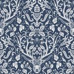 3118-12703 Birch and Sparrow Kiwassa Antler Damask by Chesapeake Wallpaper