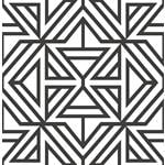 2902-25553 Theory Helios Black Geometric by A-Street Prints Wallpaper