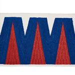 76063 Prado Tape Blue and Red by Schumacher Fabric
