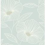 2764-24321 Mythic Seafoam Floral Mistral by A-Street Prints