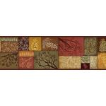 3118-35511B Birch and Sparrow Pinecone Collage Patchwork by Chesapeake Wallpaper
