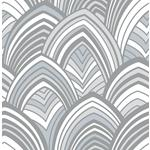 2969-87353 Pacifica CABARITA Grey Art Deco Leaves Greyby A-Street Prints Wallpaper