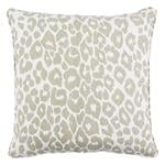 """So17572104 Iconic Leopard 18"""" Pillow Linen By Schumacher Furniture and Accessories 1"""