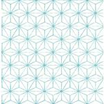 2764-24311 Orion Turquoise Geometric Mistral by A-Street Prints