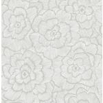 2969-26036 Pacifica Periwinkle Light Grey Textured Floral Greyby A-Street Prints Wallpaper