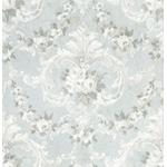 AST4066 Zio and Sons This Old Hudson Vintage Blue Rose Damask by A-Street Prints Wallpaper