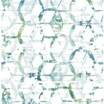 2969-26044 Pacifica Augustine Blue Distressed Geometric Blueby A-Street Prints Wallpaper