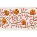 76291 Ashoka Tape Orange and Pink by Schumacher Fabric