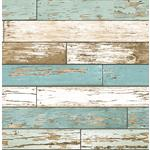 2701-22318  Reclaimed Turquoise Textured by A-Street Prints Wallpaper
