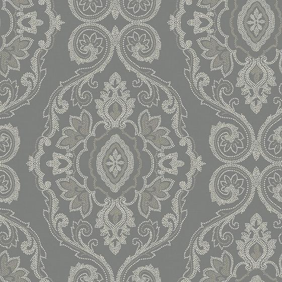 MB30300 Beach House Nautical Damask, Black Sands D