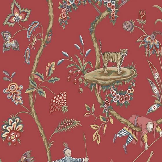 SC 0002WP81547PS Chinoise Exotique Tomato By Scalamandre Wallpaper