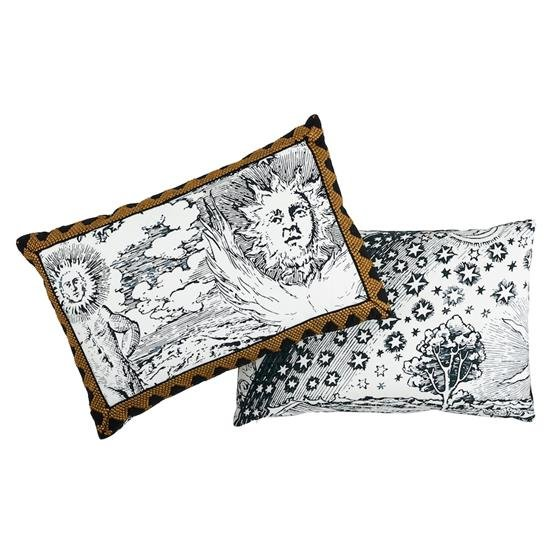 So17862120 Tim Tim and Modern Toile Pillow Black By Schumacher Furniture and Accessories 3