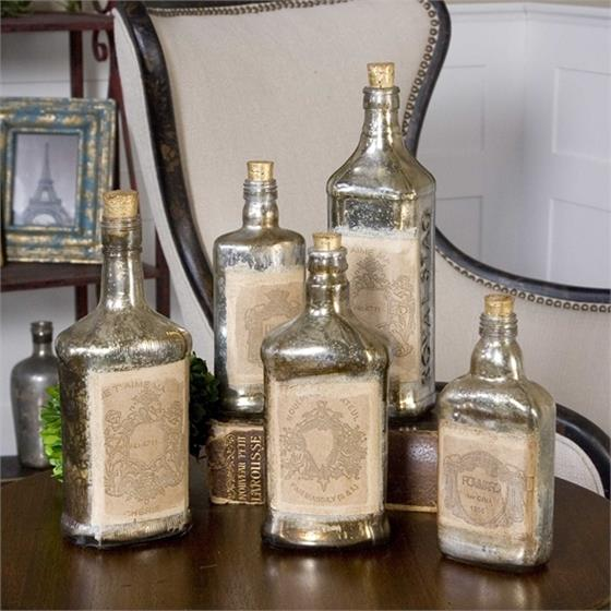 19754 Recycled Bottles S/5 by Uttermost