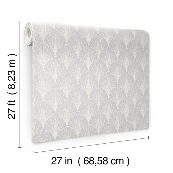 NV5552 Modern Heritage 125th Anniversary Scalloped Pearls by York Wallpaper