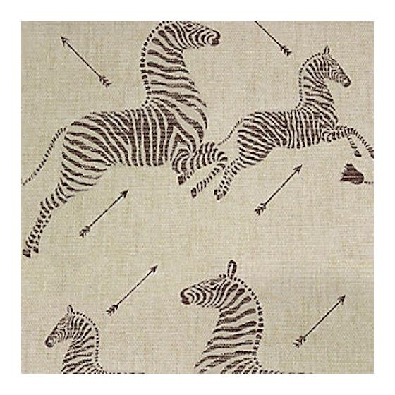 SC 0001G81388M Zebras - Grasscloth, Natural by Sca