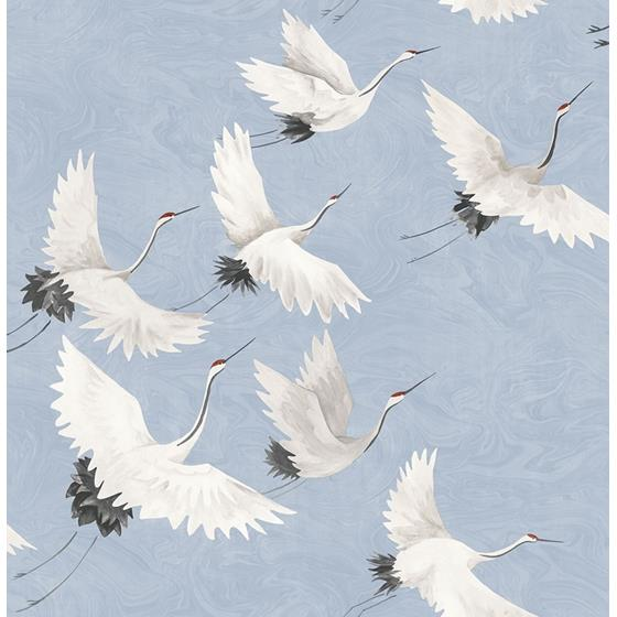 2764-24303 Windsong Periwinkle Crane Mistral by A-Street Prints