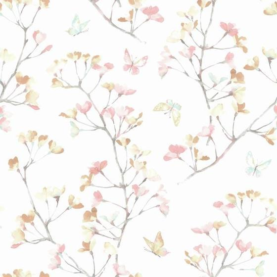 KI0514 A Perfect World, Watercolor Branch, Peach A