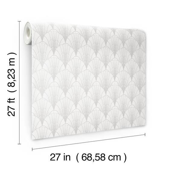 NV5550 Modern Heritage 125th Anniversary Scalloped Pearls by York Wallpaper