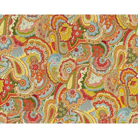 32812.530.0 Paisley Crush Primary Light Blue Upholstery Paisley Fabric by Kravet Couture
