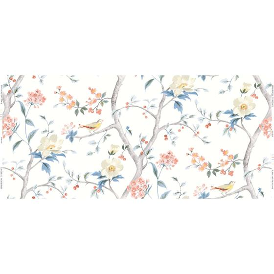 Ln11901F Southport Floral Trail Fabric Seabrook Wallpaper