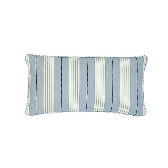 So7137018 Audrey Stripe Pillow Navy By Schumacher Furniture and Accessories 1