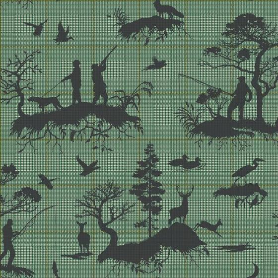 HO3327 Outdoorsmen Toile, Tailored by York Wallpap