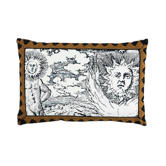 So17862120 Tim Tim and Modern Toile Pillow Black By Schumacher Furniture and Accessories 1