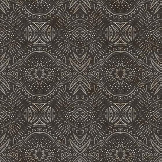 3118-12663 Birch and Sparrow Java Medallion by Chesapeake Wallpaper