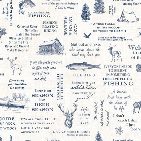 3118-01474 Birch and Sparrow North Hills Camping Quotes by Chesapeake Wallpaper