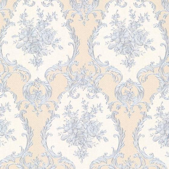 2530-20545 Satin Classics IX Blue Damasks Mirage